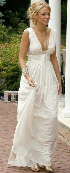 Vestido de novia para playa.