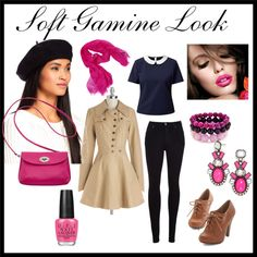 Soft Gamine Look for Spring/Autumn by commorragh on Polyvore featuring Belle Heart, Nick & Mo, Citizens of Humanity, BaubleBar, KC Signatures, Sofia Cashmere, OPI, women's clothing, women's fashion and women