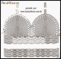 Katia Ribeiro Acessórios: Cropped top crochet - Top em crochê