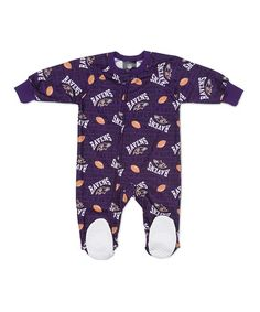 Take a look at this Purple Baltimore Ravens Fleece Footie - Infant by NFL on #zulily today!