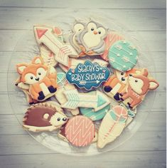 Woodland critter cookies @briannajenkins when my baby shower comes lol bc you make the best cookies!