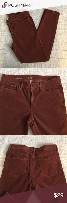"""LOFT Modern Skinny Corduroy Pants In like new condition! These cords are the perfect neutral and popular """"rose"""" color! LOFT Pants Skinny"""