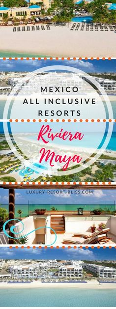 The Best Riviera Maya All Inclusive Hotels All Inclusive Honeymoon Resorts, All Inclusive Mexico, Caribbean All Inclusive, Caribbean Vacations, Beach Vacations, Honeymoon Ideas, Vacation Resorts, Romantic Beach Getaways, Romantic Resorts