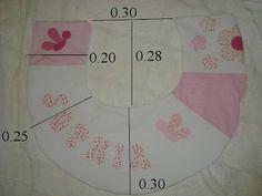 ARTE COM QUIANE - Paps,Moldes,E.V.A,Feltro,Costuras,Fofuchas 3D: Enxoval de Bebê: Molde almofada de amamentação