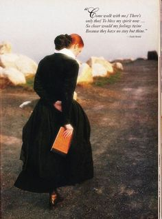 Emily Bronte quote and a dress. September 1990 issue of Victoria magazine