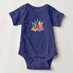 #personalize - #Canada 150 Official Logo - Multicolor and Blue Baby Bodysuit