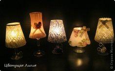 Ispirazione per creare dei lumetti porta candele shabby realizzati con dei calici da vino - Il blog italiano sullo Shabby Chic e non solo