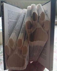 Double Paws Folded Book Art Pattern   PDF Book by Foldilocks