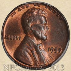 1955 Lincoln Cent MS65 PCGS RB Doubled Die Obverse