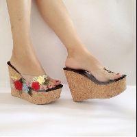 8 ide Wedges murah | beludru, sandal