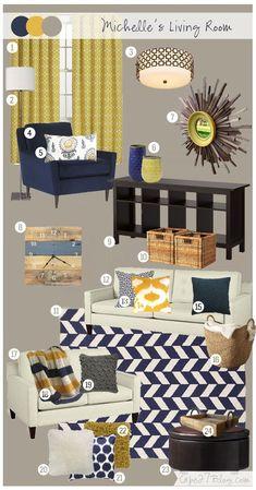 Inspired Color Palettes For Spring 2014. Navy Living RoomsLiving Room ...