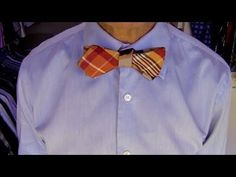 Alton Brown Demonstrates How to Tie a Bow Tie