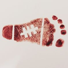 How adorable is this football footprint? Our baby will be giving this print to his daddy for Valentine's Day. For step by step instructions, visit http://on.today.com/2jL5vEe