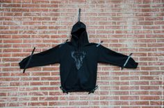 REINDEER // HOODIE // BLACK S-M-L UNISEX ALSO AVAILABLE IN SWEAT.