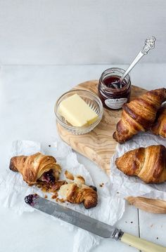 Croissants, jam and butter.....