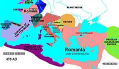 Map of the Decline of Rome