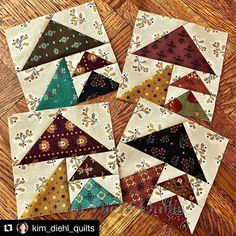 - Kim Diehl - On the sewing table today, a ton of triangles! Cute Quilts, Scrappy Quilts, Small Quilts, Mini Quilts, Modern Quilt Blocks, Quilt Block Patterns, Quilting Projects, Quilting Designs, Flying Geese Quilt