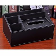 Business Name Cards Remote Control Large Assortment Office & School Supplies 1pcs Pu Leather Multi-function Desk Stationery Organizer Storage Box Pen/pencil,cell Phone