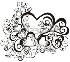 Illustration of Heart with floral ornament, Element for design, vector image vector art, clipart and stock vectors. Heart Coloring Pages, Colouring Pages, Adult Coloring Pages, Coloring Books, Mandala Coloring, Free Coloring, Stencils, Quilling Patterns, Doodles Zentangles