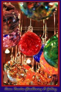 Hanging Ornaments from Ocean Beaches Glassblowing