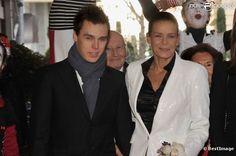 Louis Ducruet next to his mother, Princess Stéphanie