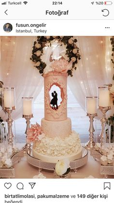 Wedding Cakes With Cupcakes Whimsical Wedding Cakes, Beautiful Wedding Cakes, Beautiful Cakes, Wedding Reception Design, Wedding Cake Designs, Artist Cake, Cake Structure, Quinceanera Cakes, Wedding Cakes With Cupcakes
