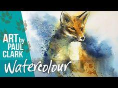 Watercolor Video, Watercolor Painting Techniques, Watercolour Tutorials, Watercolor Animals, Watercolor Paintings, Watercolours, Step By Step Watercolor, Clark Art, Just In Case