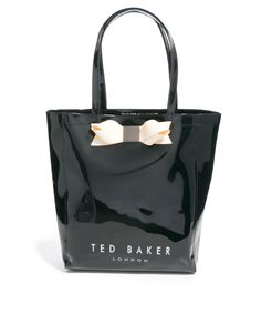 Ted Baker Larcon Large Black Bow Icon Bag at ASOS