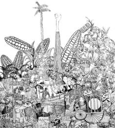 "Saatchi Art Artist Christi Haupt; Drawing, ""Mexico City"" #art"