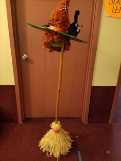 wicked witch hat & broom from  Shrek the Musical