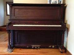 Our 1901 Everett upright. I'd love to claim that this piano was handed down to me through the generations, but the fact is we acquired it when we bought our first house in Hyde Park, MA 11 (12?) years ago. (Photo: Shala Howell)