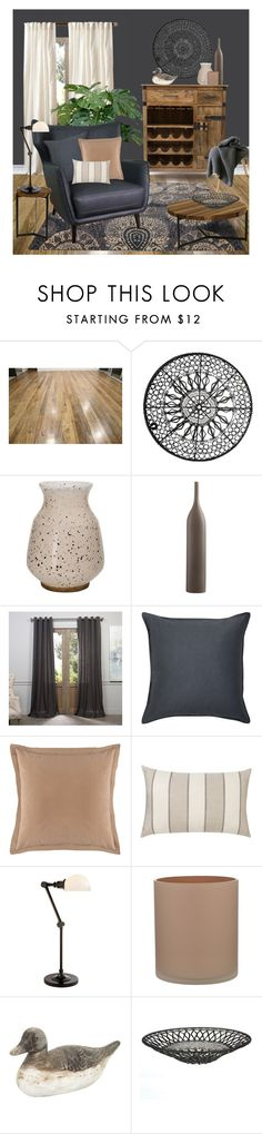 """Eclectic - Mid Century Modern, Rustic and Modern"" by ollie-and-me ❤ liked on Polyvore featuring interior, interiors, interior design, home, home decor, interior decorating, Moe's Home Collection, Loloi Rugs, EFF and Novara"