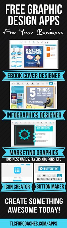 Free web apps to create quick beautiful graphics. No sign-up required. Start designing now and create something awesome! http://www.tlcforcoaches.com/apps