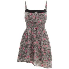 TALLY WEiJL: Collared print dress (95 BRL) ❤ liked on Polyvore featuring dresses, floral dresses, collared dresses, floral design dresses, pattern dress and flower print dress