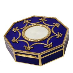 Precious one of a kind edition enamelled box   From a unique collection of vintage boxes and cases at http://www.1stdibs.com/jewelry/objets-dart-vertu/boxes-cases/