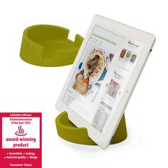 Bosign | Green Recipe Book Holder | Tablet Stand | Kitchen iPad Stand