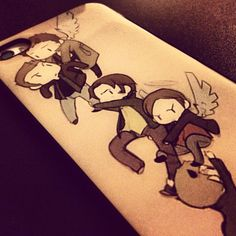 Its okay to be jealous about my phone case :)   Supernatural-Dean Winchester-Sam Winchester-Castiel-Lucifer-Michael-iphone case