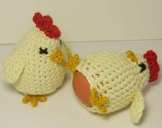 Crocheted Chicken Egg Cosy