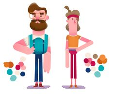 Hipster Couple! on Behance
