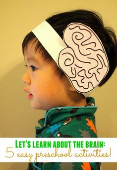 Let's learn about our brain! (Preschool Science Activity) 5 easy preschool activities to teach kids about the brain Kid Science, Preschool Science Activities, Preschool Lessons, Preschool Learning, Preschool Art, In Kindergarten, Teaching Kids, Activities For Kids, Nutrition Activities