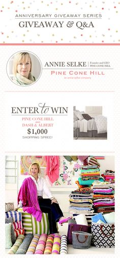 Pine Cone Hill Giveaway and Q&A! Last week to enter, good luck!
