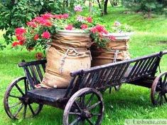 Burlap Sack Cover on 5 Gallon Bucket!  Simple,.. Fill it with greens, reuseable, sustainable,.. I heart this idea!
