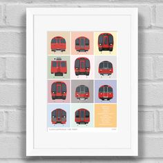 London Underground Tube Trains - Limited Edition Giclée Art Print / Poster
