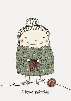 I love knitting illustration by Bodesigns