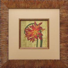 An interesting frame design for for this delicate floral illustration. Fotiou moulding 5926GO and fillet 4460GO.