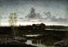 """Morning Star"" (1874) by Józef Szermentowski (Polish;1833-1876), oil on canvas, National Museum, Warsaw."