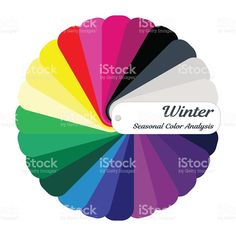 Stock vector color guide. Seasonal color analysis palette for winter type royalty-free stock vector art