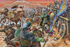 The Battle of Manzikert: The Emperor Romanos IV makes his final stand, sunset, Friday 26 august 1071