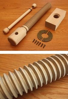 Lake Erie Wood Vice Screw Premium Kit