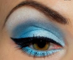 Frost your eyes with shimmery blue winter shadows. A look to get rid of those winter blues.